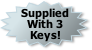 Supplied With 3 Keys!